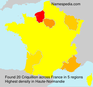 Surname Criquillion in France