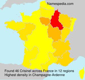 Surname Crisinel in France