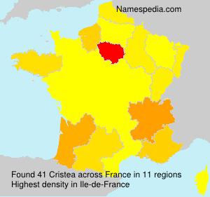 Surname Cristea in France