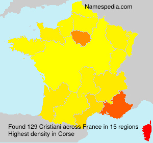Surname Cristiani in France