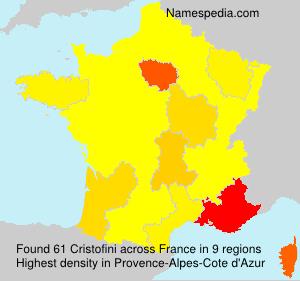 Surname Cristofini in France