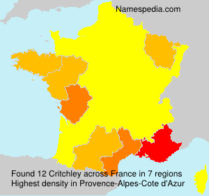 Surname Critchley in France