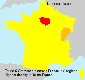 Surname Crnovrsanin in France