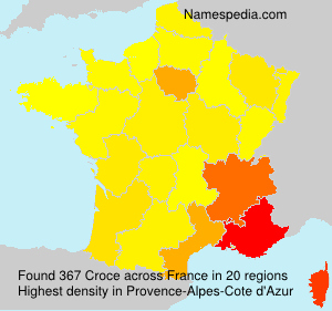 Surname Croce in France