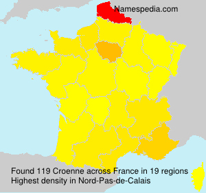 Surname Croenne in France