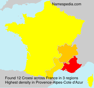 Surname Croesi in France
