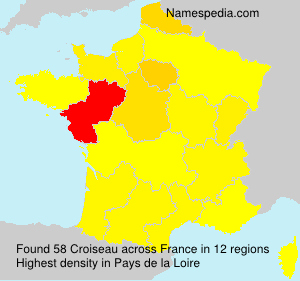 Surname Croiseau in France