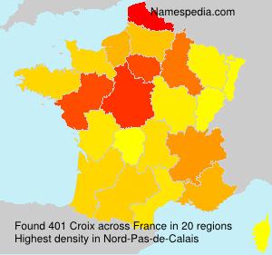 Familiennamen Croix - France