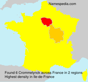 Surname Crommelynck in France
