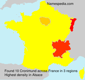 Surname Cronimund in France