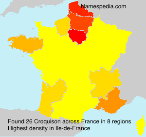 Surname Croquison in France