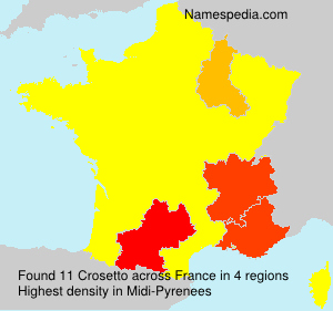 Surname Crosetto in France