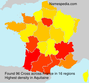 Surname Cross in France