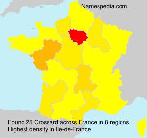 Familiennamen Crossard - France