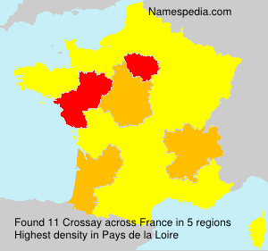 Surname Crossay in France