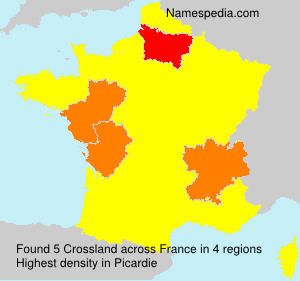 Surname Crossland in France