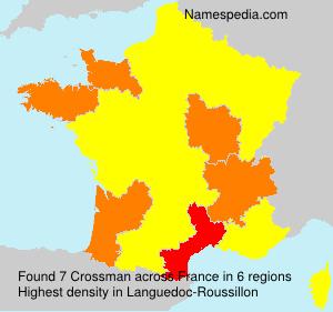 Surname Crossman in France