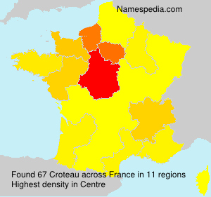 Surname Croteau in France