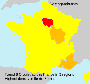 Surname Croulet in France