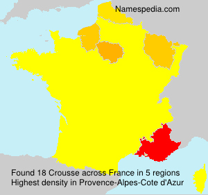 Surname Crousse in France