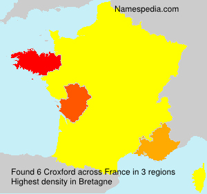 Familiennamen Croxford - France