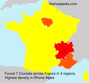 Familiennamen Cruciata - France