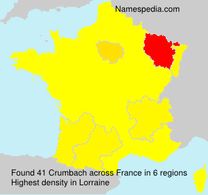 Surname Crumbach in France