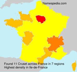 Surname Cruset in France