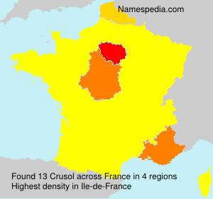 Familiennamen Crusol - France
