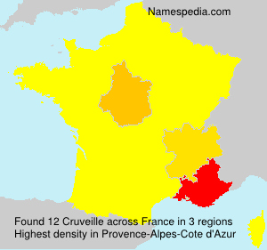 Surname Cruveille in France