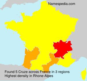 Surname Cruze in France
