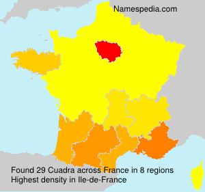 Surname Cuadra in France