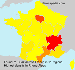 Surname Cuaz in France