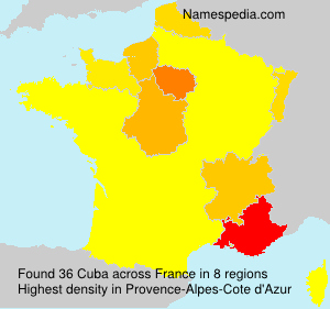 Surname Cuba in France