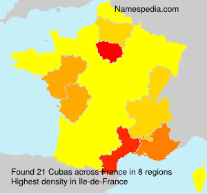 Surname Cubas in France
