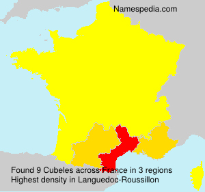 Surname Cubeles in France
