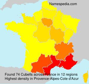 Surname Cubells in France
