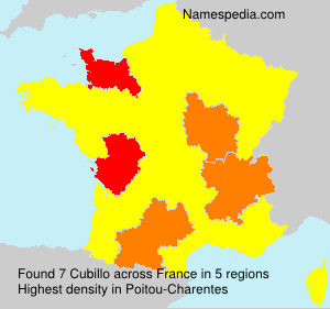 Surname Cubillo in France