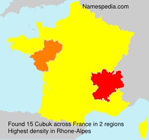 Familiennamen Cubuk - France