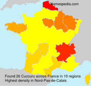 Surname Cuccuru in France