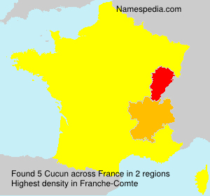 Surname Cucun in France