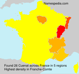 Surname Cuenat in France