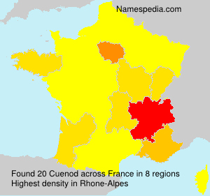 Surname Cuenod in France