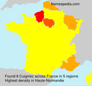 Surname Cuigniez in France