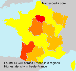 Surname Cuk in France