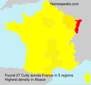 Surname Cully in France