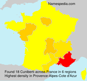 Surname Cuniberti in France