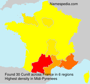 Surname Cunill in France