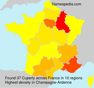 Surname Cuperly in France