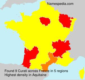 Familiennamen Curati - France